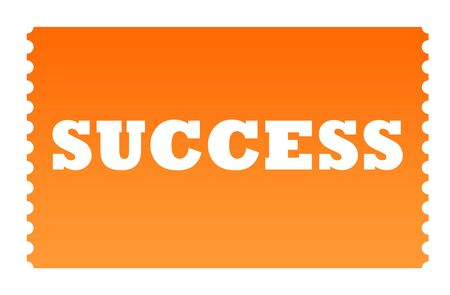 solated: Ticket to success solated on white background. Stock Photo