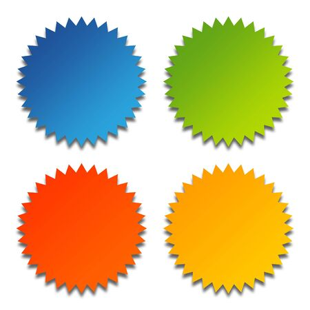 Set of four glossy rosettes with copy space, isolated on white background. Stock Photo - 6685933