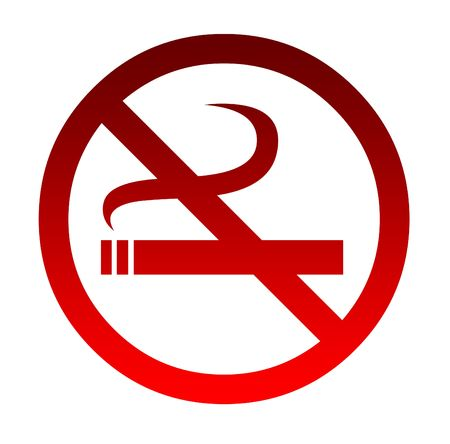No smoking sign isolated on a white background. photo