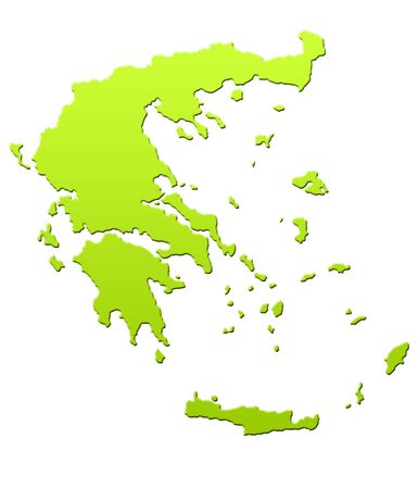 Greece map in green, isolated on white background. Stock Photo - 6779072