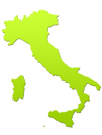 Italy map in green, isolated on white background. Stock Photo - 6779067