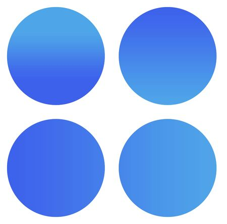Blank blue gradient sticker buttons isolated on white background with copy space. photo