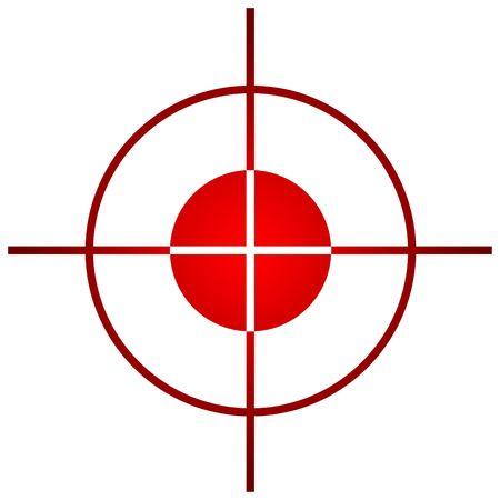 target business: �mbito de aplicaci�n de destino de francotirador o vista, aislado sobre fondo blanco.