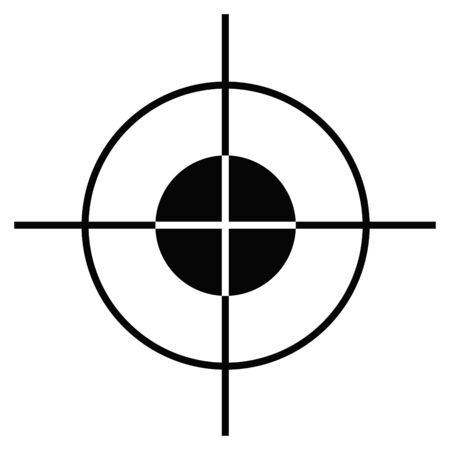 Sniper target scope or sight, isolated on white background. Standard-Bild