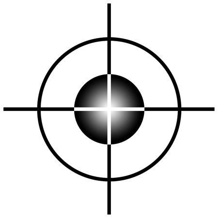 狙撃兵ターゲット スコープまたは白い背景で隔離の光景です。