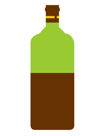 half full: Half full wine bottle isolated on white background with copy space.