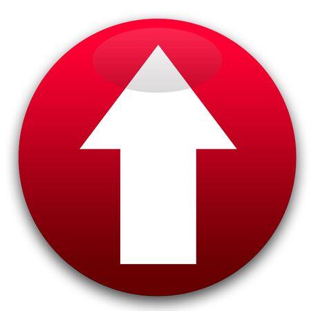 Botón de flecha de dirección de red aislado sobre fondo blanco.