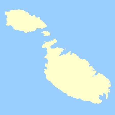 maltese: Map of Maltese Islands isolated on a blue background.