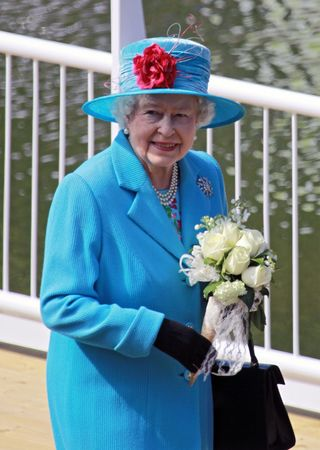 SCARBOROUGH, ENGLAND - MAY 20: Her Royal Highness Queen Elizabeth II at opening of Royal Open Air Theater, Scarborough, North Yorkshire, England.