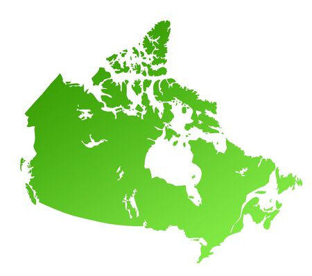 map of canada: Green Canada map isolated on white background with copy space.