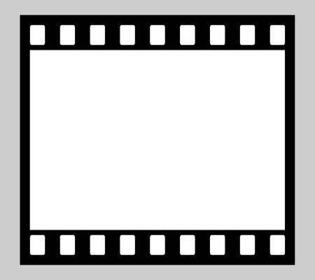 Illustration of blank 35mm film strip with copy space. illustration