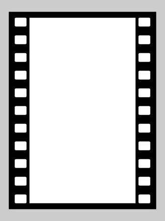 35mm: Illustration of blank 35mm film strip with copy space.