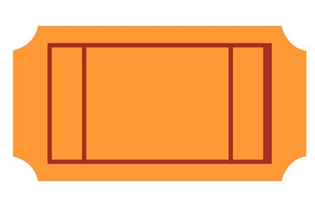 raffle: Blank ticket with copy space, isolated on white background. Stock Photo