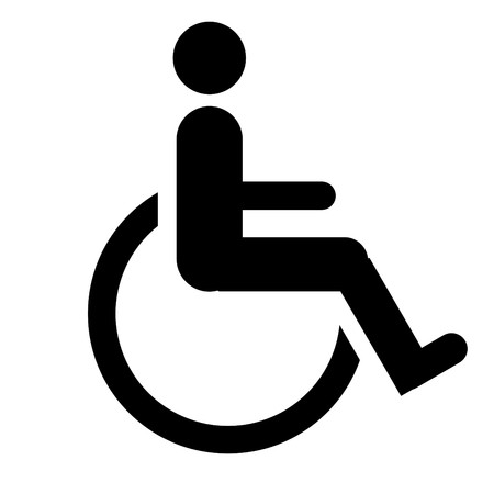 handicapped person: Disabled sign, isolated on a white background.
