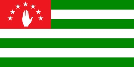 Sovereign state flag of country of Abkhazia in official colors. Stock Photo - 7449756