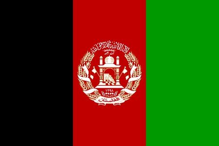 sovereign: Sovereign state flag of country of Afghanistan in official colors.