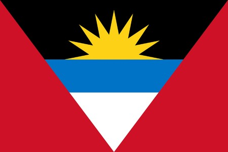 Sovereign state flag of country of Antigua and Barbuda in official colors. Stock Photo - 7449757