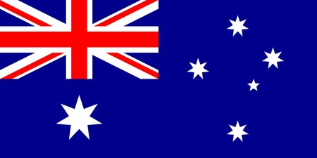 sovereign: Sovereign state flag of country of Australia in official colors.