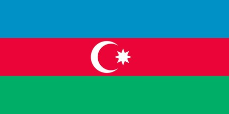 sovereign: Sovereign state flag of country of Azerbaijan in official colors. Stock Photo