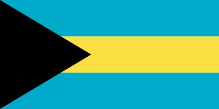 sovereign: Sovereign state flag of country of Bahamas in official colors. Stock Photo