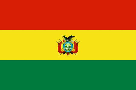 sovereign: Sovereign state flag of country of Bolivia in official colors.