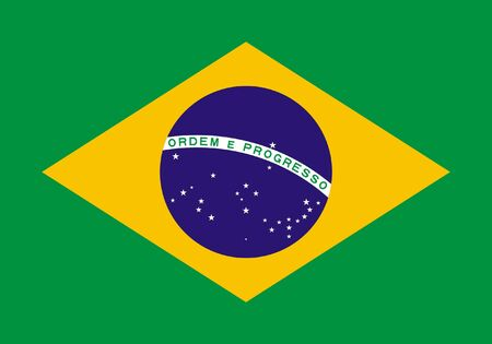 sovereign: Sovereign state flag of country of Brazil in official colors. Stock Photo
