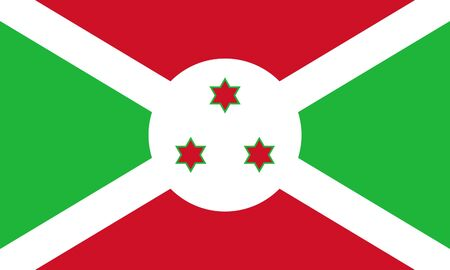 sovereign: Sovereign state flag of country of Burundi in official colors. Stock Photo