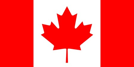 canada flag: Sovereign state flag of country of Canada in official colors.