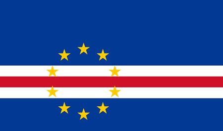 sovereign: Sovereign state flag of country of Cape Verde in official colors.