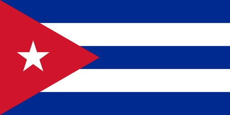 sovereign: Sovereign state flag of country of Cuba in official colors.