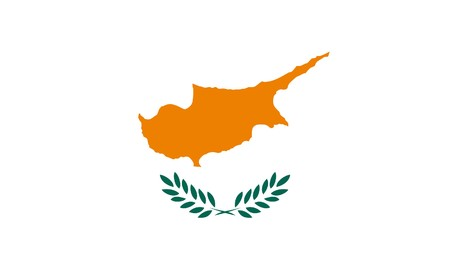 sovereign: Sovereign state flag of country of Cyprus in official colors. Stock Photo