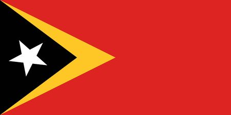 sovereign: Sovereign state flag of country of East Timor in official colors.