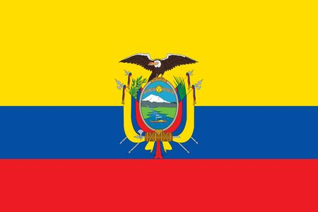 sovereign: Sovereign state flag of country of Ecuador in official colors. Stock Photo