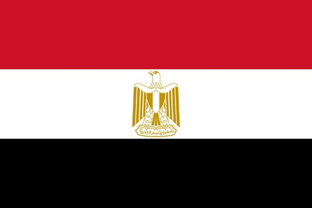 sovereign: Sovereign state flag of country of Egypt in official colors.