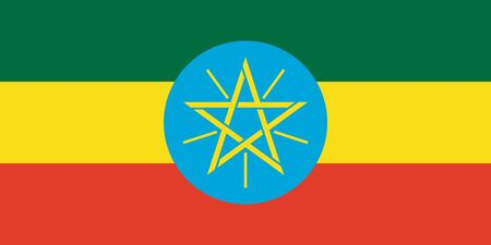 sovereign: Sovereign state flag of country of Ethiopia  in official colors.