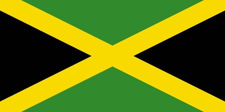 sovereign: Sovereign state flag of country of Jamaica in official colors.
