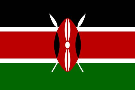 Sovereign state flag of country of Kenya in official colors. Stock Photo - 7485158
