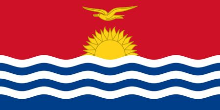 sovereign: Sovereign state flag of country of Kiribati in official colors.