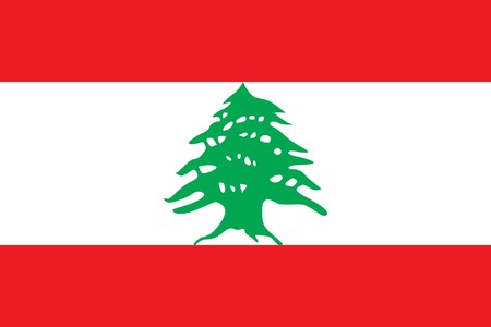 sovereign: Sovereign state flag of country of Lebanon in official colors.