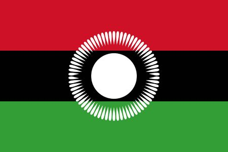 sovereign: Sovereign state flag of country of Malawi in official colors.