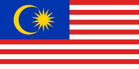 sovereign: Sovereign state flag of country of Malaysia in official colors. Stock Photo