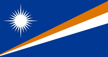 sovereign: Sovereign state flag of country of Marshall Islands in official colors.