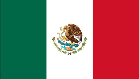 Sovereign state flag of country of Mexico in official colors. photo
