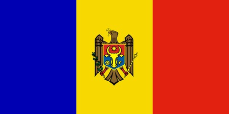 Sovereign state flag of country of Moldova in official colors. photo