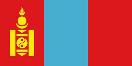 sovereign: Sovereign state flag of country of Mongolia in official colors.