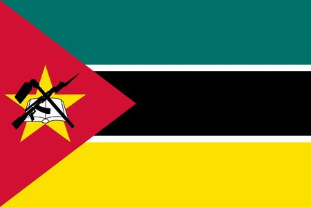 sovereign: Sovereign state flag of country of Mozambique in official colors.