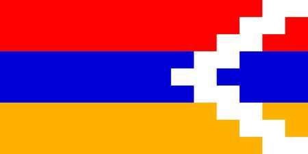sovereign: Sovereign state flag of country of Nagorno-Karabakh in official colors.