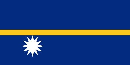 sovereign: Sovereign state flag of country of Nauru in official colors. Stock Photo