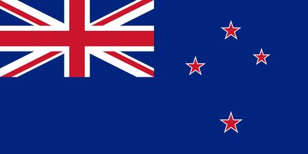 new zealand landscape: Sovereign state flag of country of New Zealand in official colors.
