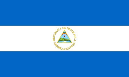 sovereign: Sovereign state flag of country of Nicaragua in official colors.